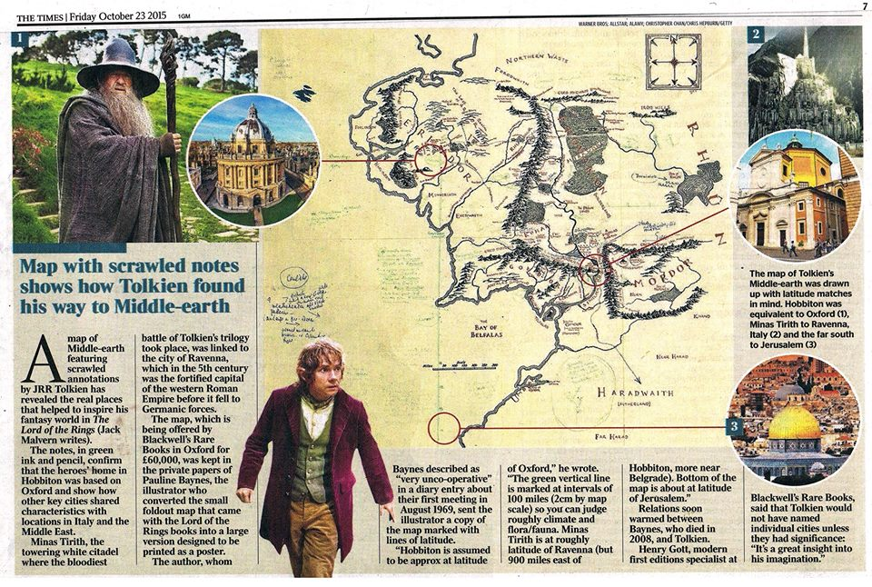 Tolkien map Times