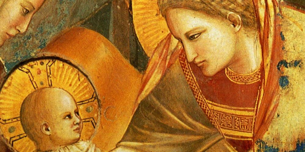 Particolare di Giotto, Natività, Cappella degli Scrovegni, Padova, 1303 -1305 ca.